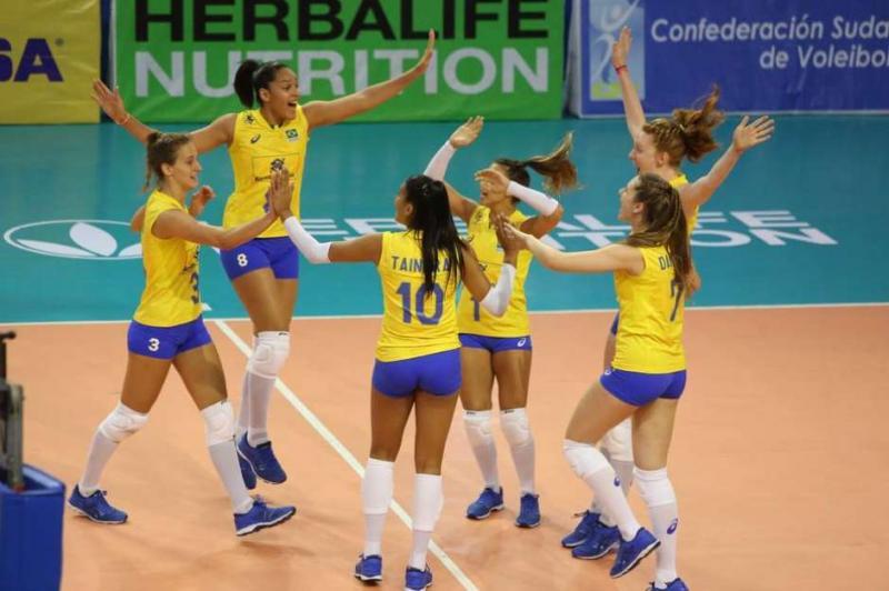 Seleção brasileira sub-20 feminina de vôlei ganha Sul-Americano no Peru