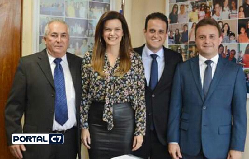 Diego Teixeira e prefeito Júnior Bill se reuniram com Iracema Portella