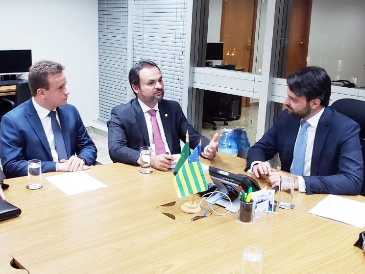 Junior Bill em reunião com deputado Mainha e ministro Baldy