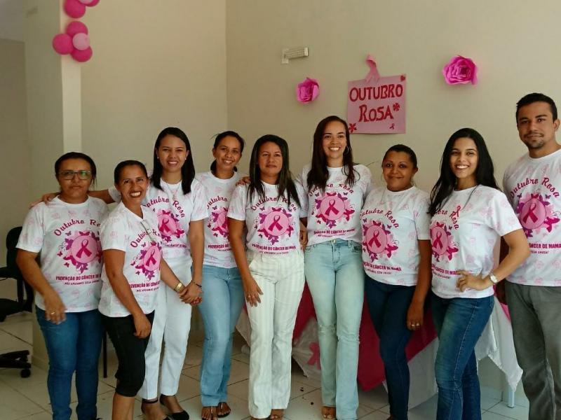 Prefeitura realiza atividades em alusão ao Outubro Rosa durante o mês