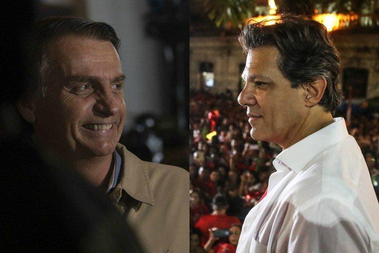 Datafolha: Bolsonaro cai para 56% e Haddad vai a 44%