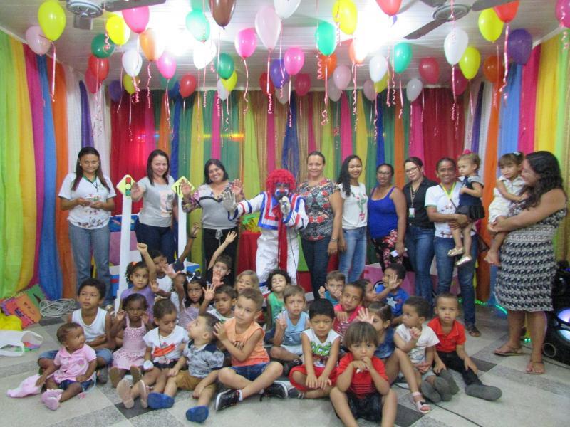Cras realiza festa em homenagem ao dia das crianças para as crianças