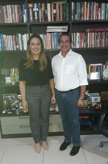 Prefeito de Nazária  Osvaldo Bonfim se reúne com Deputada Rejane Dias