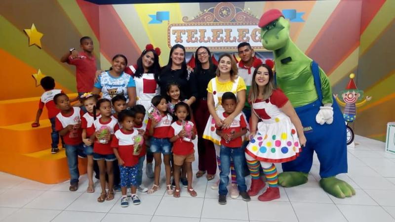 Alunos de escola do município de Lagoa participam de programa infantil