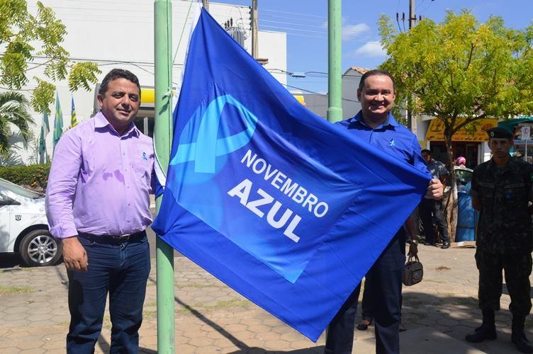 Prefeito Professor Ribinha abriu oficialmente atividades do Novembro Azul