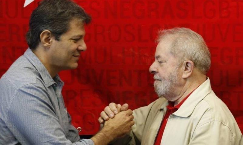 Fernando Haddad visita Lula pela primeira vez após as eleições