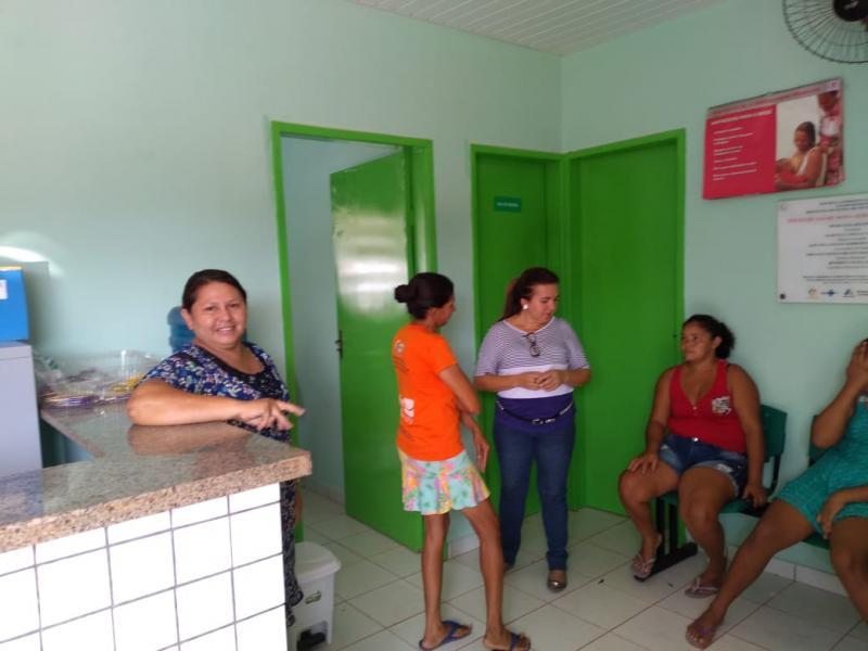 Vilma Lima visita postos de saúde e consultórios odontológicos reformados