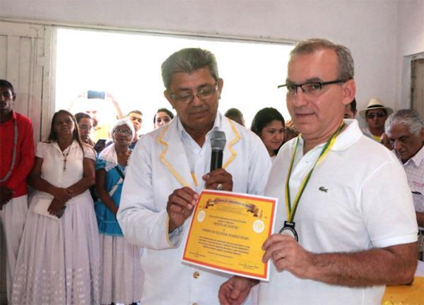 Firmino Filho é homenageado em evento da Federação Umbandista