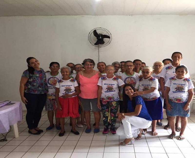Nasf se reune com o grupo Vai Idoso do Centro de Convivência do Idoso