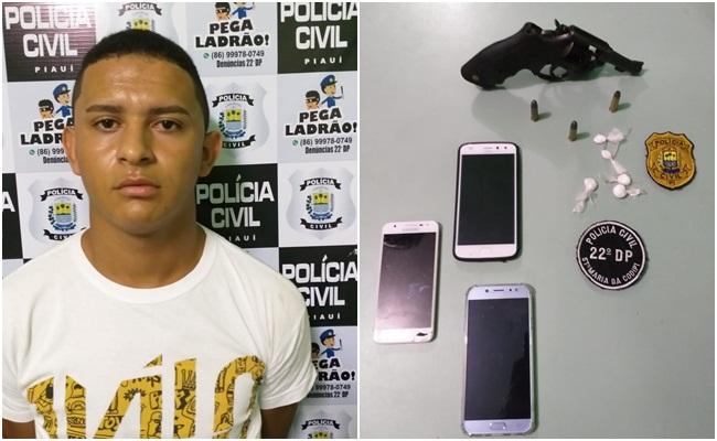 Acusado de tráfico de drogas é preso em bar em Teresina