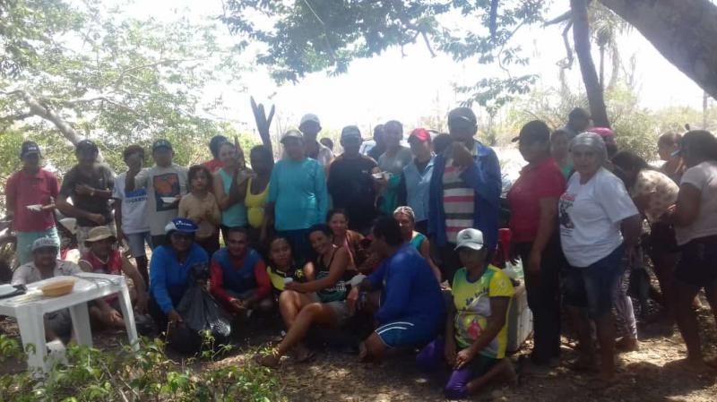 Mais um mutirão de limpeza do rio Marataoan é realizado pelo SindPesca