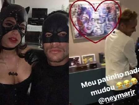 Neymar retira quadro de Bruna Marquezine da parede de casa
