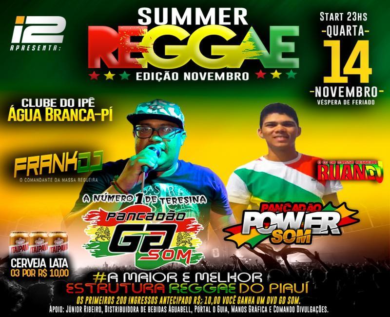 Agência I2 apresenta Summer reggae edição novembro