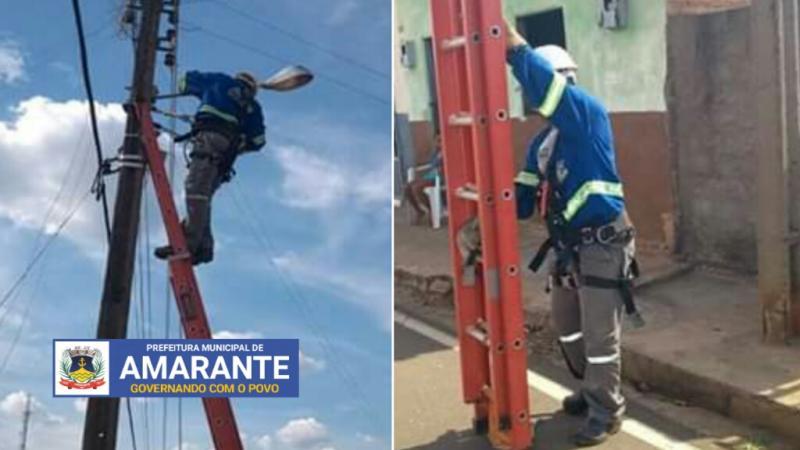 Prefeitura Municipal de Amarante em ação na iluminação pública; veja!