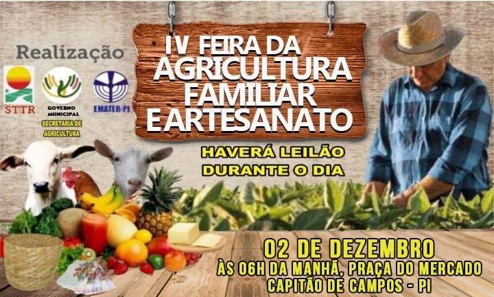 Prefeitura realizará IV Feira da Agricultura Familiar dia 02 de dezembro