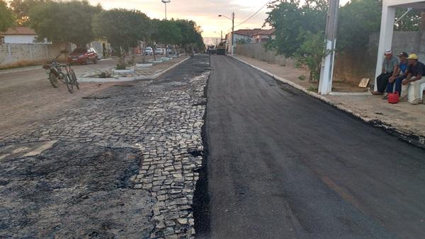 Gestão da prefeita Doquinha está asfaltando Colônia do Gurgueia