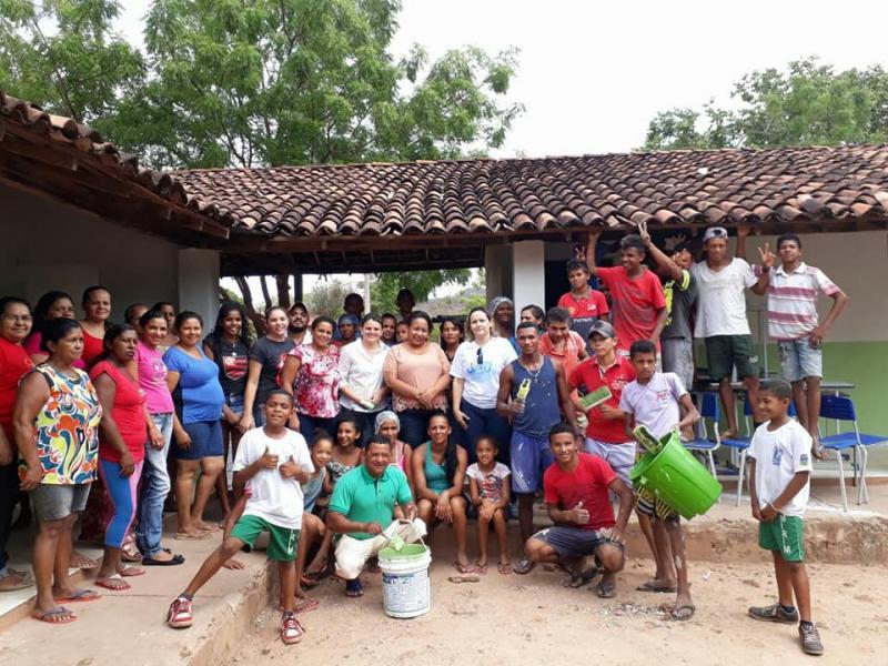 Mutirão promove reforma na escola Justina Freitas