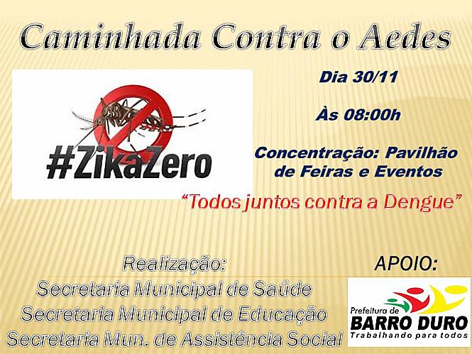 Prefeitura de Barro Duro realizará caminhada de prevenção a dengue