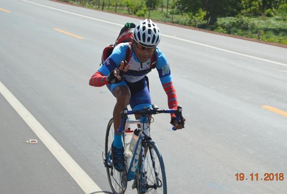 Joel Duarte passando em Colônia do Gurgueia