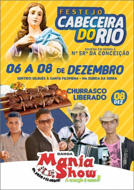 Vem aí Festejo da comunidade Cabeceira do Rio de 06 a 08 de dezembro 2018