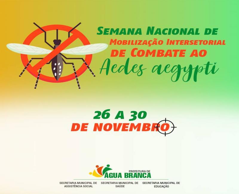 Água Branca adere à campanha nacional de combate ao Aedes aegypti