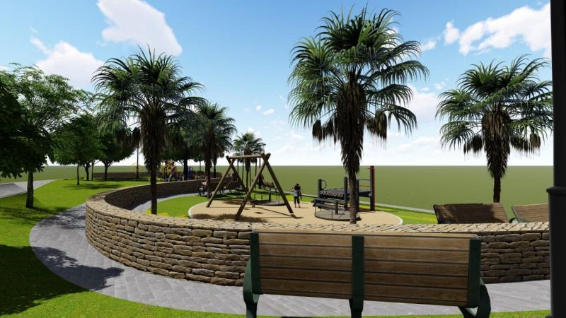 Prefeito Genival Bezerra anuncia construção de praça e poços tubulares