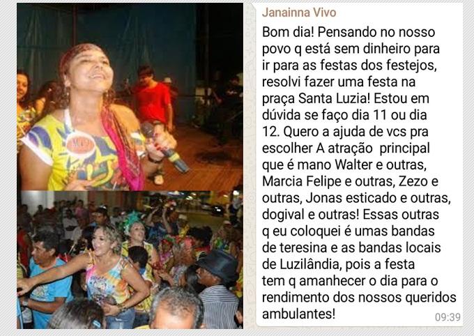 Festas, Folia, Folguedos, Foliões... Beleza!!! Deputada