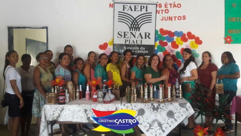 Secretaria de Assistência Social de Cristino Castro realizou curso de artesanato