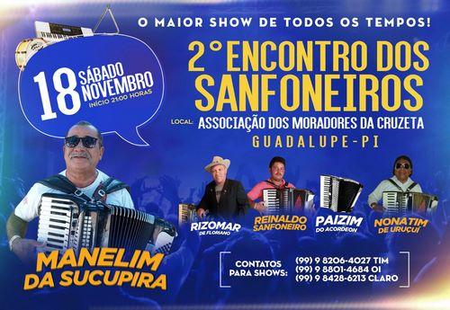 2º Encontro dos Sanfoneiros será realizado em Guadalupe
