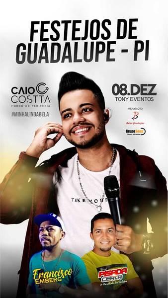 Não Perca grande show com o mais novo sucesso do Brasil Caio Costa