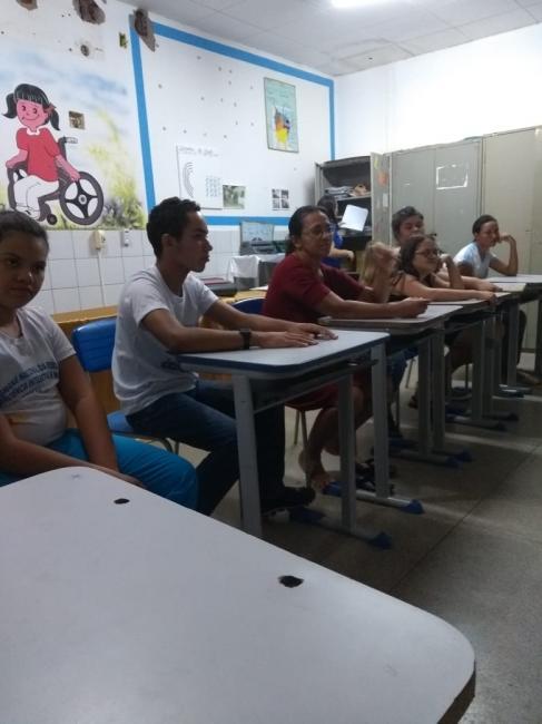 Confraternização da sala de Atendimento Educacional Especializado (AEE )