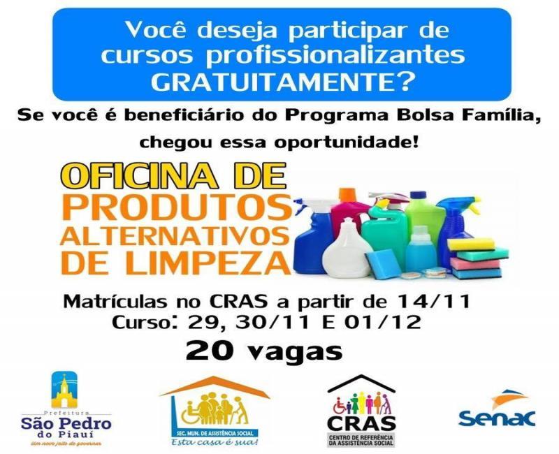 CRAS de São Pedro oferece cursos profissionalizantes para beneficiários do Bolsa Família