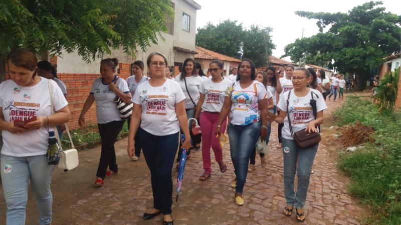 secretaria Municipal de saúde realizou Campanha de Combate à Dengue