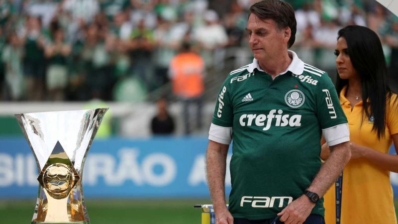 CBF usa festa do Palmeiras para se aproximar de Bolsonaro