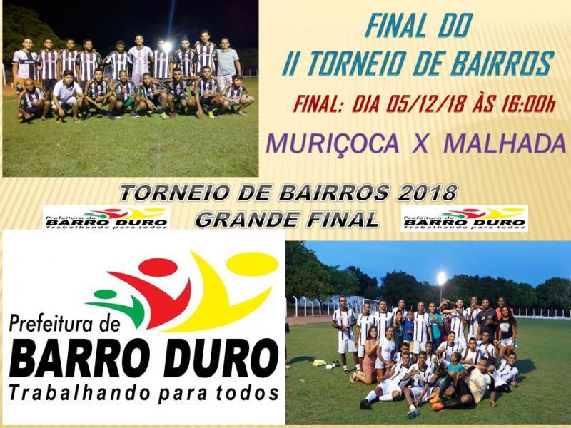 Definido os Finalistas do II Torneio de Bairros em Barro Duro