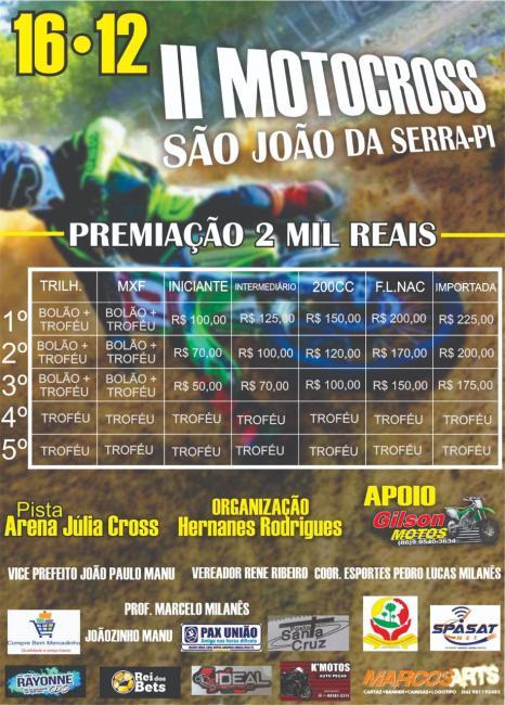 II Motocross para fazer abertura do X Festival Cultural