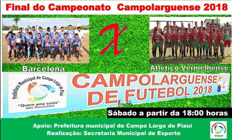 É neste sábado (8) a grande final do Campolarguense de futebol amador 2018