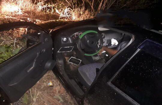 Carro com integrantes de banda de forró sofre acidente na PI-113