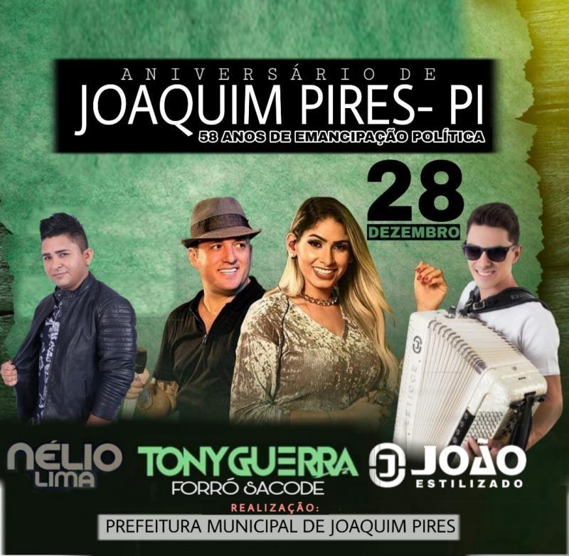 Prefeitura de Joaquim Pires realizará festa de emancipação política