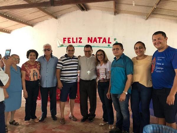 Autoridades de Guadalupe recepcionam o Bispo Dom Edivalter