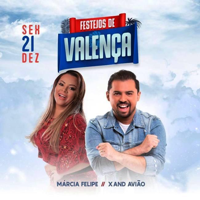 Ingressos do 2º lote para o show de Xand Avião e Márcia Fellipe em Valença