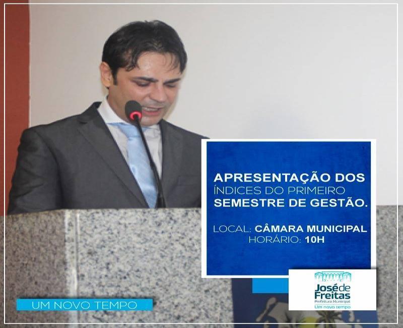 Prefeito de José de Freitas realizará Audiência Pública para discutir gestão municipal