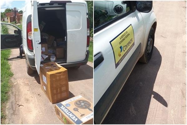 Carro dos Correios roubado em Teresina é localizado em Timon