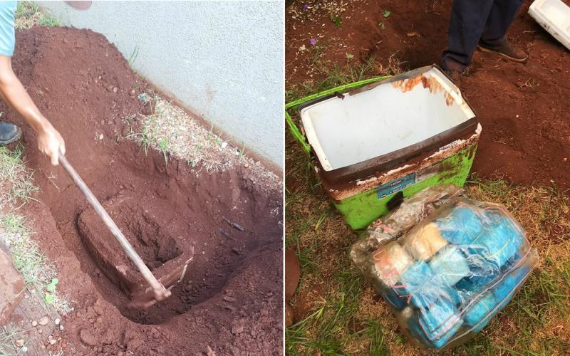 Mulher de ex-vereador é presa com R$ 107 mil enterrado no quintal