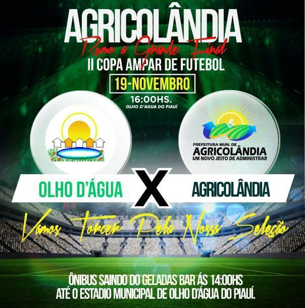 Olho Dágua X Agricolândia  na semifinal da II Copa AMPAR de futebol amador
