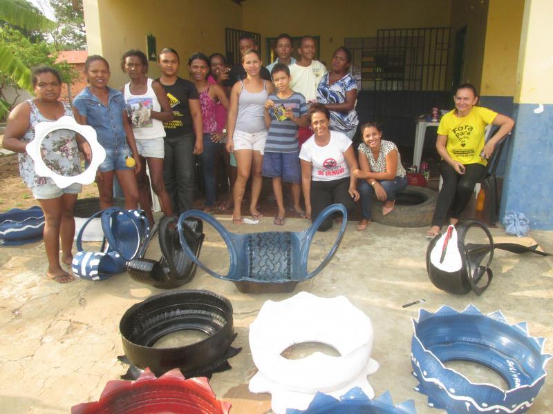 Curso: Reciclagem com Pneus usados foi realizado para os alunos do CRAS de Agricolândia