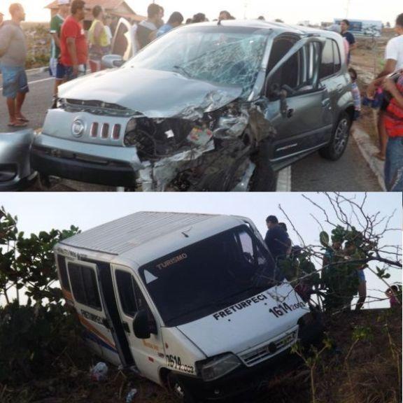 Colisão entre carro e van deixa feridos na PI-116