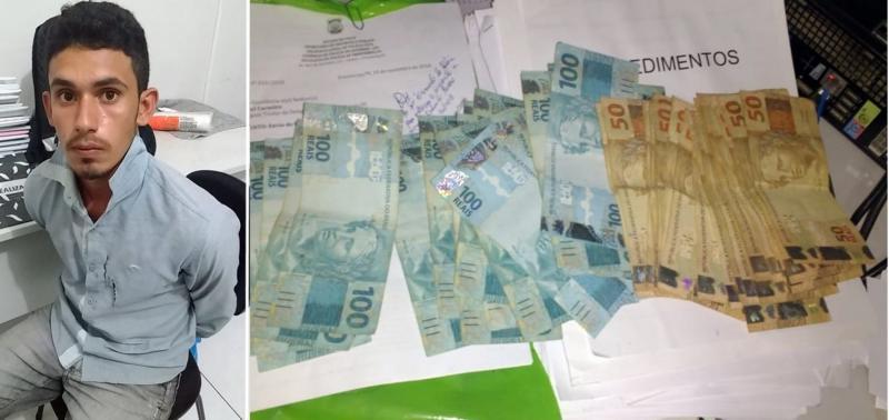 Homem é preso após aplicar golpe e furtar R$ 4 mil no interior do Piauí