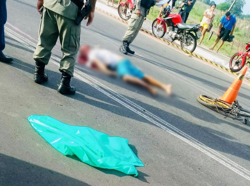 Ciclista morre após ser atropelado na avenida Poti Velho em Teresina