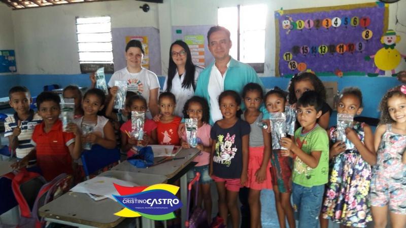 Secretaria de Saúde de Cristino Castro realizou palestra sobre Saúde Bucal para crianças